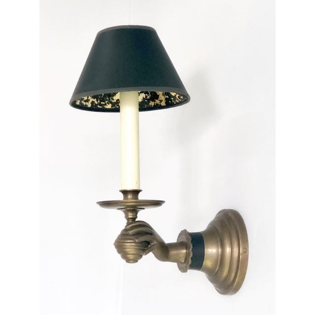 Italian Pair of Italian Hand Brass Sconces, 1960s For Sale - Image 3 of 11