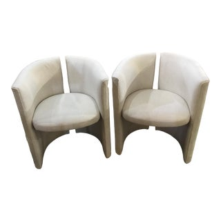 1970s Vintage Split Back Design Chairs- A Pair For Sale