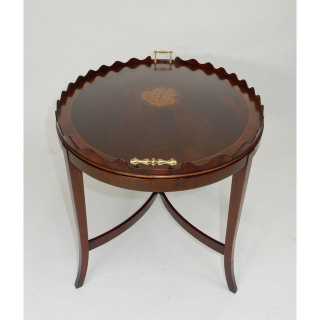 Kittinger Inlaid Mahogany Serving Table For Sale - Image 9 of 13