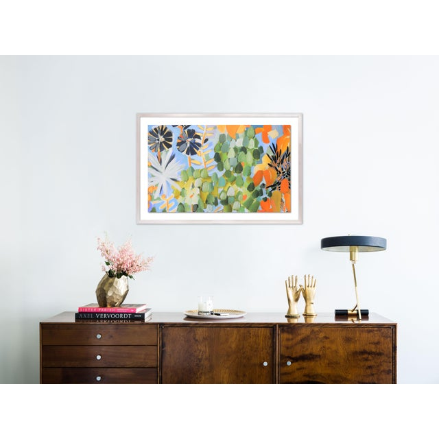 Contemporary St Tropez 1 by Lulu DK in White Wash Framed Paper, Medium Art Print For Sale - Image 3 of 4
