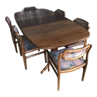 Rosewood Dining Table & Chairs For Sale