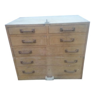 1970s Industrial 7-Drawer Carpenter Chest For Sale