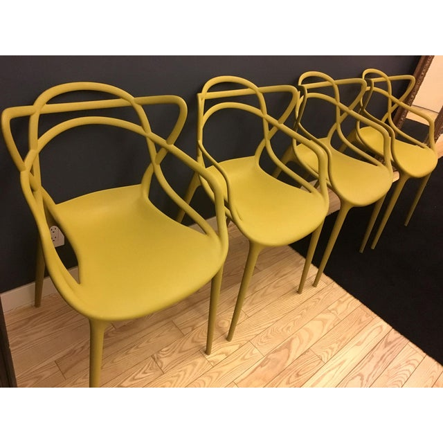 Kartell Mustard Yellow Masters Chairs - Set of 4 For Sale - Image 5 of 9