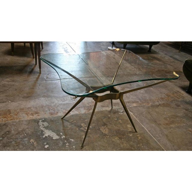 Italian Italian 1950s Brass Cocktail Table For Sale - Image 3 of 9
