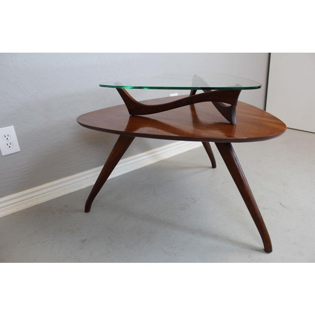 Vladimir Kagan-Style Two-Tier Side Table For Sale In Phoenix - Image 6 of 9