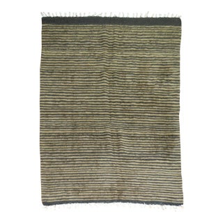 Vintage Striped Mohair Rug - 4'4'' x 5'11'' For Sale