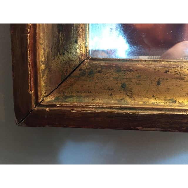 19th Century 19th Century Gilded Mirror With Arched Top For Sale - Image 5 of 7