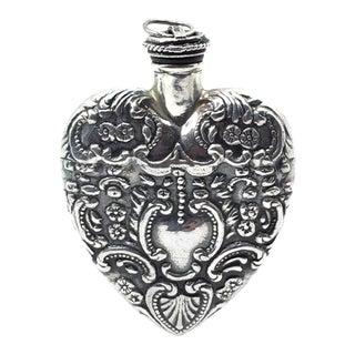 Sterling Ornate Perfume Bottle For Sale