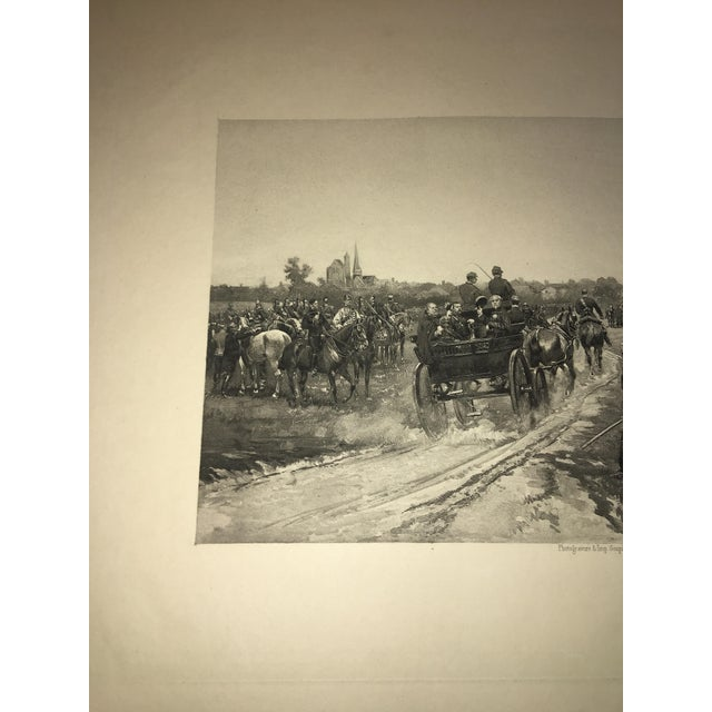 1881 Edouard Detaille Military Scene Lithograph For Sale In New York - Image 6 of 7
