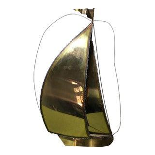 Vintage Brass Sailboat Sculpture by Demott
