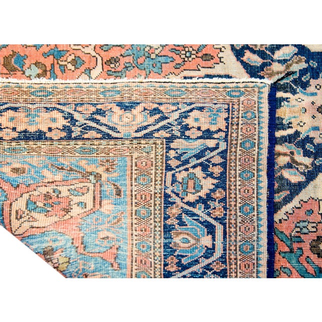 Exquisite Late 19th Century Sarouk Farahan Rug For Sale In Chicago - Image 6 of 7