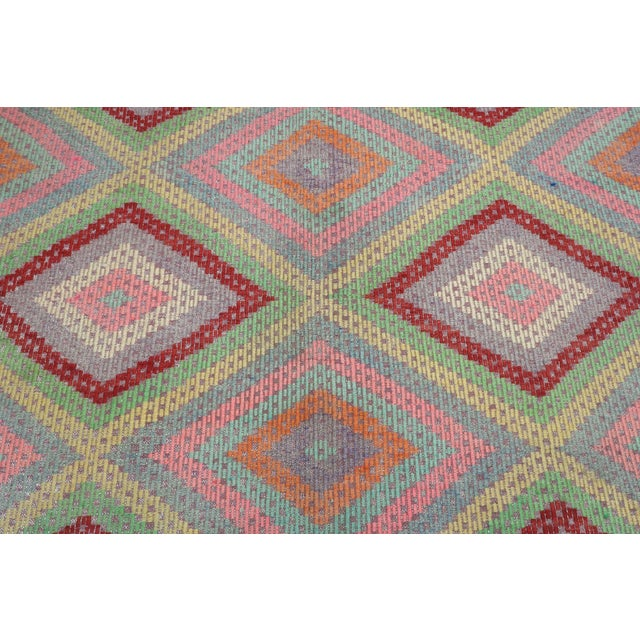 Rug & Kilim Anatolian Kilim Turkish Embroidery Rug For Sale - Image 4 of 13