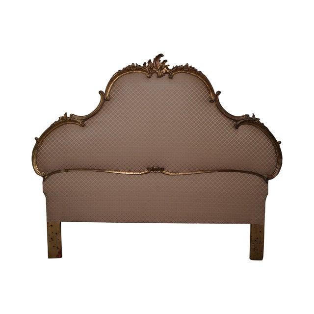 Vintage Italian Gilt Wood Rococo Queen Headboard - Image 1 of 10