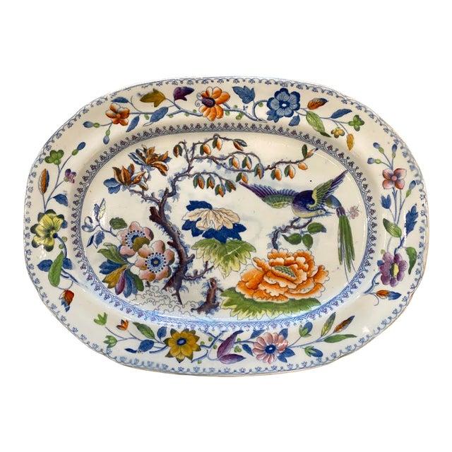 """Antique """"Flying Bird"""" Davenport Platter For Sale"""