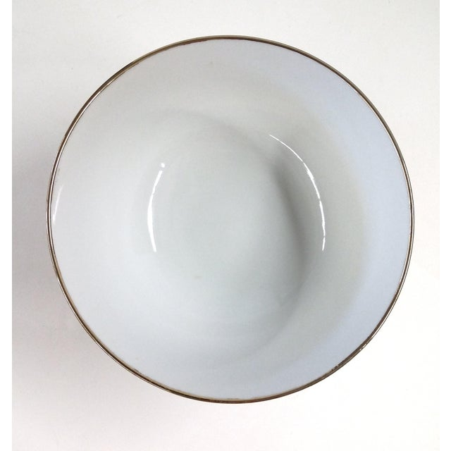 Tan Chinese Porcelain Hand Painted Bowl For Sale - Image 8 of 8