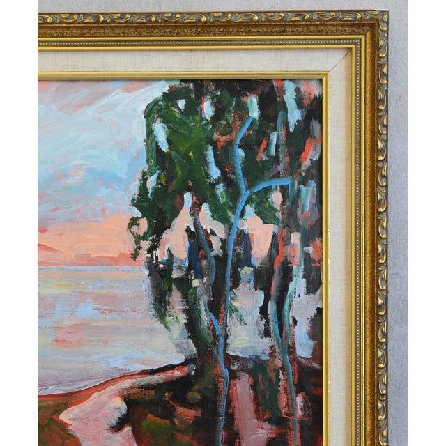 Late 20th Century Juan Guzman Plein Air Seascape Landscape Oil Painting For Sale - Image 5 of 9
