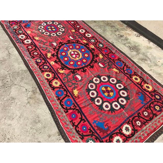 Antique Handmade Suzani Tapestry - Image 4 of 5