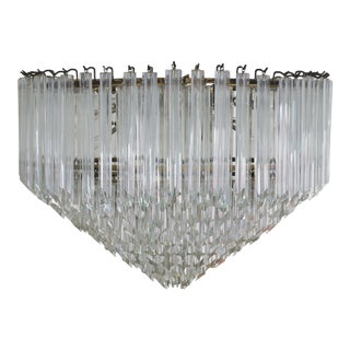 Vintage Murano Glass Chandelier by Venini For Sale
