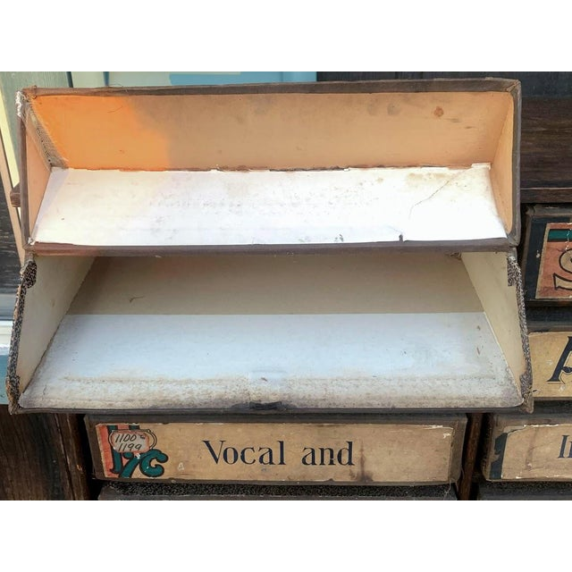 1920s Era Sheet Music Cabinet For Sale - Image 10 of 12
