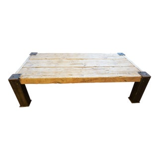 French Rustic Coffee Table For Sale