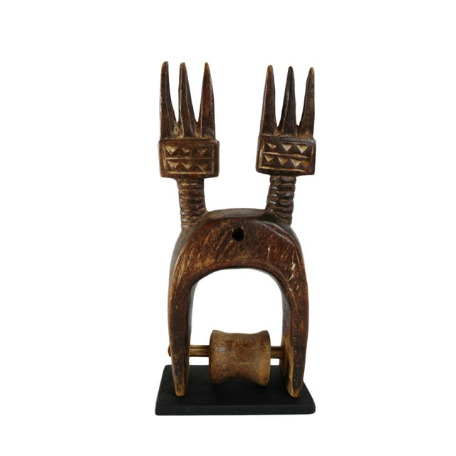 Tribal Antique West Africa Heddle Pulley For Sale - Image 3 of 3