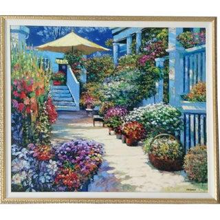 Nantucket Flower Market Painting For Sale
