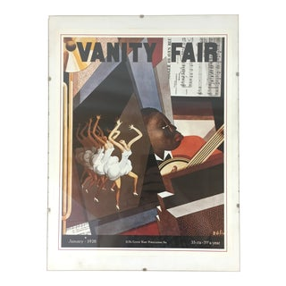 Late 20th Century Vintage Vanity Fair Magazine Cover Print by William Bolin For Sale