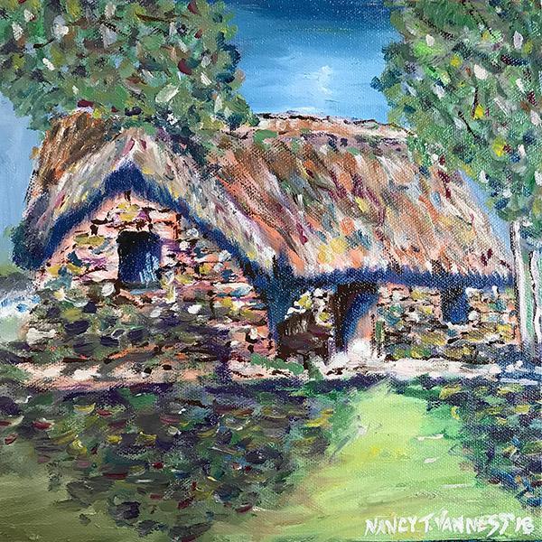 2010s Nancy T. Van Ness Irish Home Original Oil Painting For Sale - Image 5 of 7