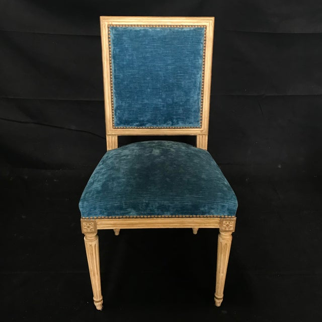 Classic 19th Century Louis XVI Dining Chairs Original Ivory Paint -Set of 8 For Sale - Image 9 of 13