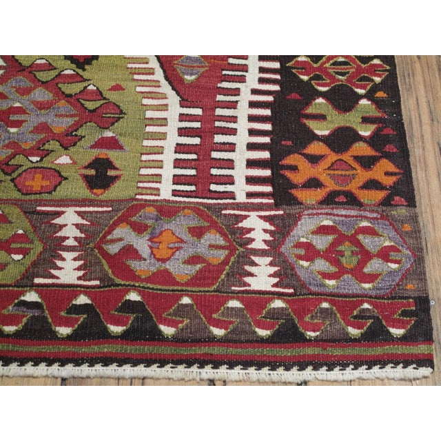 Cotton Sivrihisar Kilim For Sale - Image 7 of 7