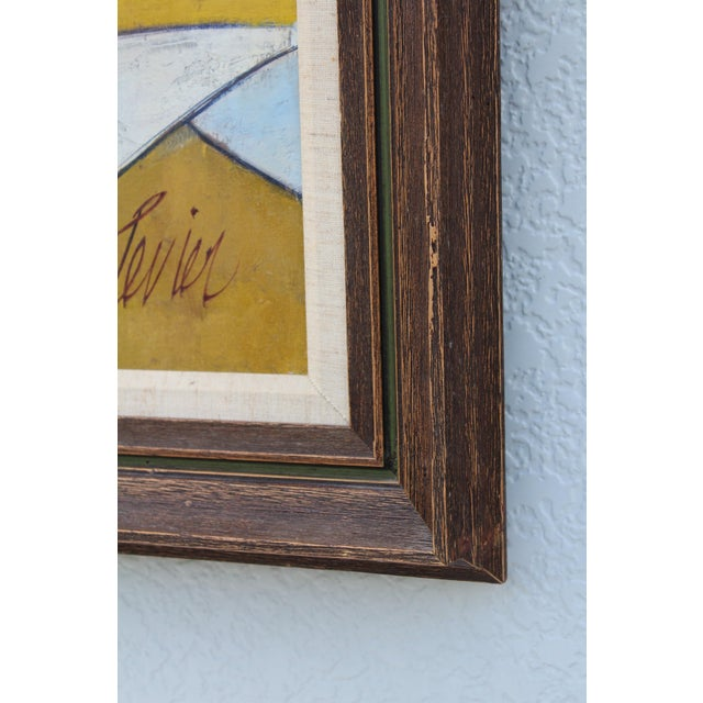 White Oil on Canvas Artwork by French Artist Charles Levier For Sale - Image 8 of 11
