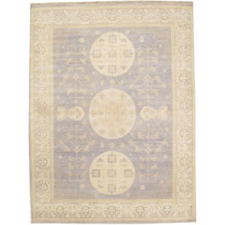 """21st Century Pasargad Indian Khotan Hand Knotted Rug - 9'2"""" X 12'1"""" For Sale"""