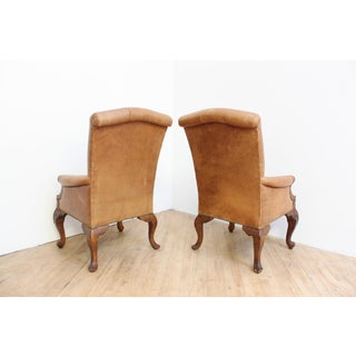 Leather Chippendale Chairs- Victorian Armchairs Preview