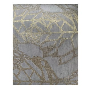 """Holly Hunt """"Great Plains"""" Silver and Gold Textile For Sale"""