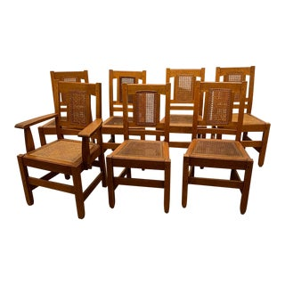 """Stickley Bros. Co"""" Quaint"""" Furniture Dining Chairs - Set of 7 For Sale"""