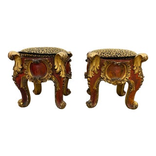Pair of Early 19th Century French Stools For Sale