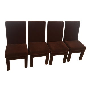 1970s Vintage Milo Baughman Parsons Dining Chairs - Set of 4 For Sale