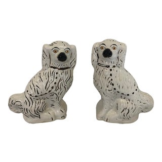 Vintage Late 20th Century Large Staffordshire Style Dogs - a Pair For Sale
