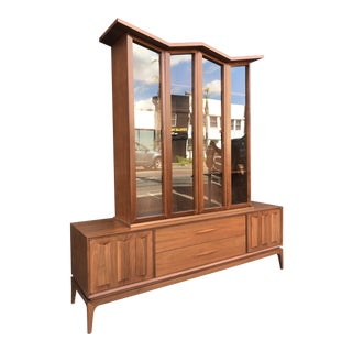 1960s Mid Century Modern Specialty Woodcraft Inc. China Cabinet For Sale