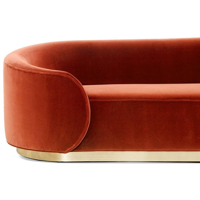 Not Yet Made - Made To Order Eden Rock Sofa in Paprika Velvet For Sale - Image 5 of 6