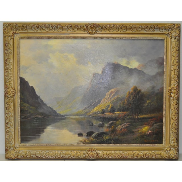 Antique 1920s Scottish Highlands Oil Painting - Image 2 of 7