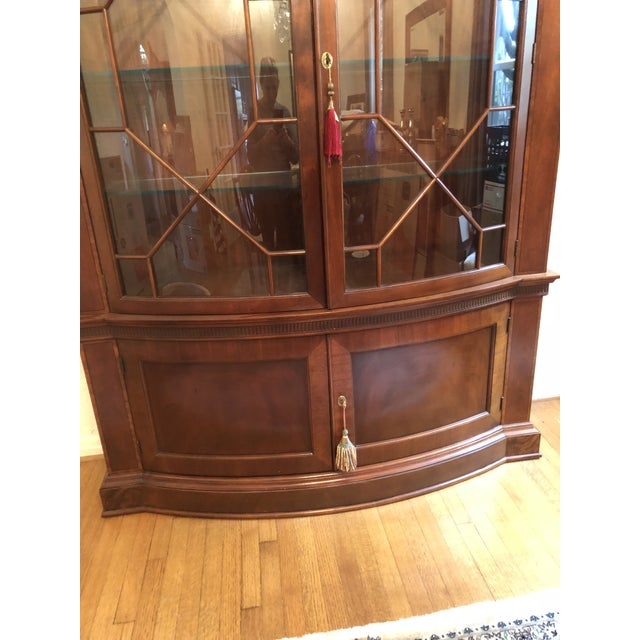 Baker Mahogany China Cabinet Historic Charleston Collection For Sale In Dallas - Image 6 of 8