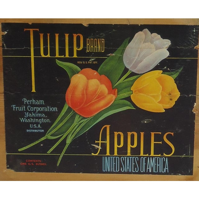 Vintage Tulip Apple Crate - Image 3 of 7