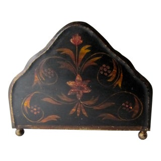 Vintage Tole Letter Holder For Sale