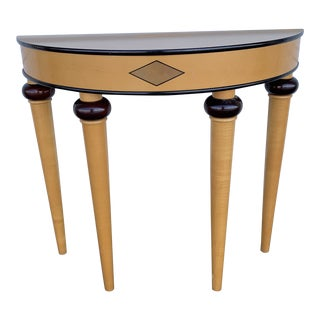 Art Deco Bombay Demi-Lune Half Moon Console Table For Sale