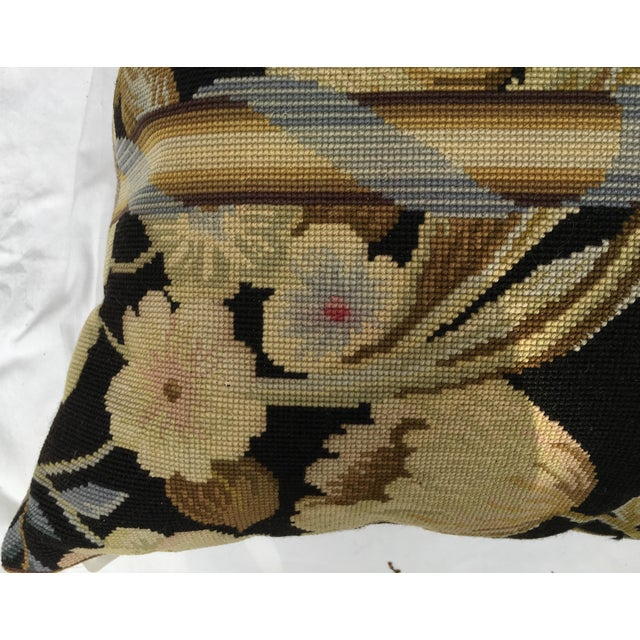 French Needlepoint Aubusson Pillow For Sale - Image 4 of 7