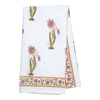 Florence Tablecloth, 8-seat table - Lilac & Green For Sale