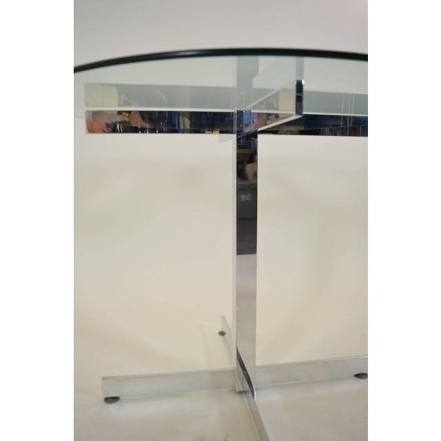 Polished Aluminum Modernist Table For Sale - Image 4 of 6