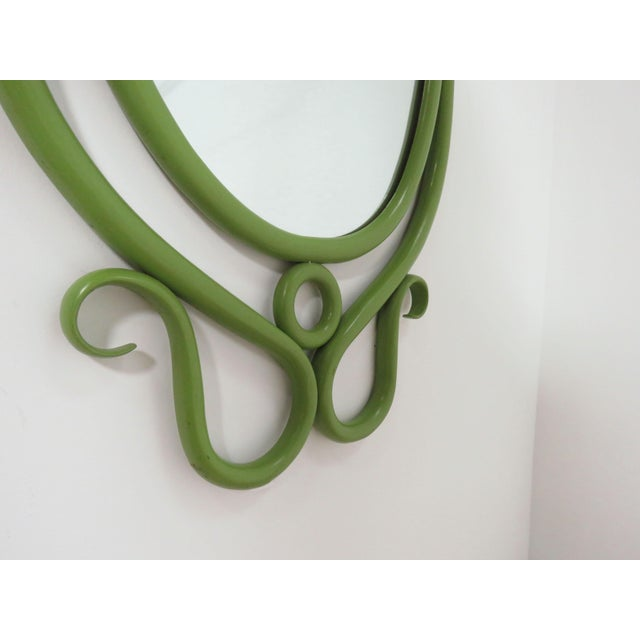 Thonet Style Bentwood Wall Mirror, Circa 1960s For Sale In Boston - Image 6 of 7