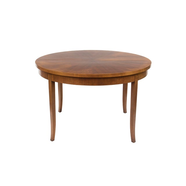 Widdicomb Round Dining Table by t.h. Robsjohn-Gibbings for Widdicomb, Model 4322 For Sale - Image 4 of 12